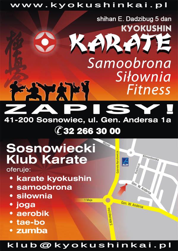 Zapisy w Sosnowieckim Klubie Karate