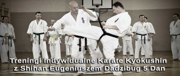 Treningi Indywidualne Karate Kyokushin z Shihan Eugeniuszem Dadzibugiem 5 Dan