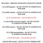 ogłoszenie godziny otwarcia ŚWIĘTA 2018-2